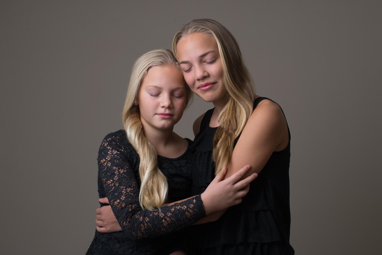 Studio syskonporträtt Blicka studio Täby centrum fotograf