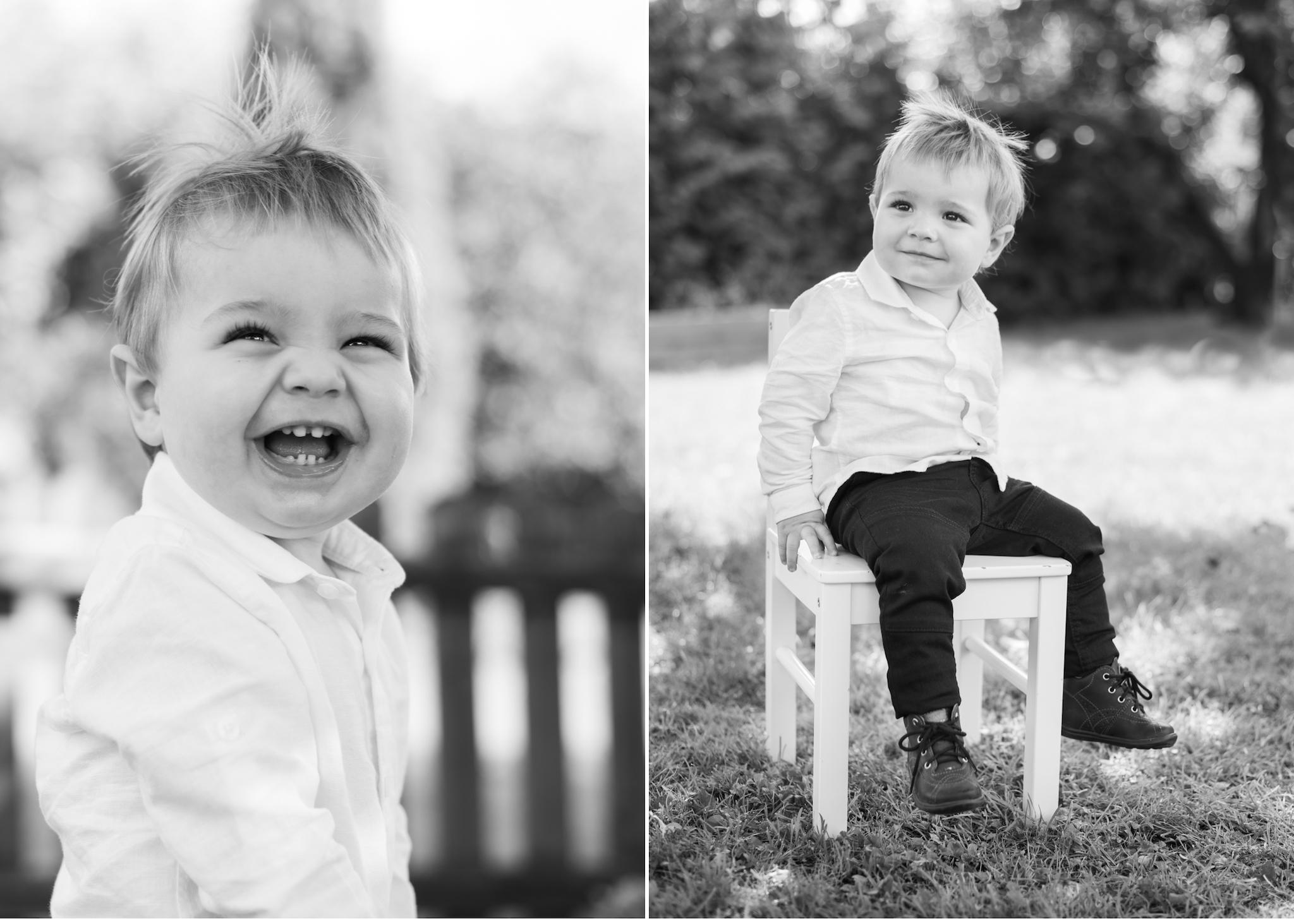 Familjefotografering i trädgården Barnfotograf Täby Stockholm