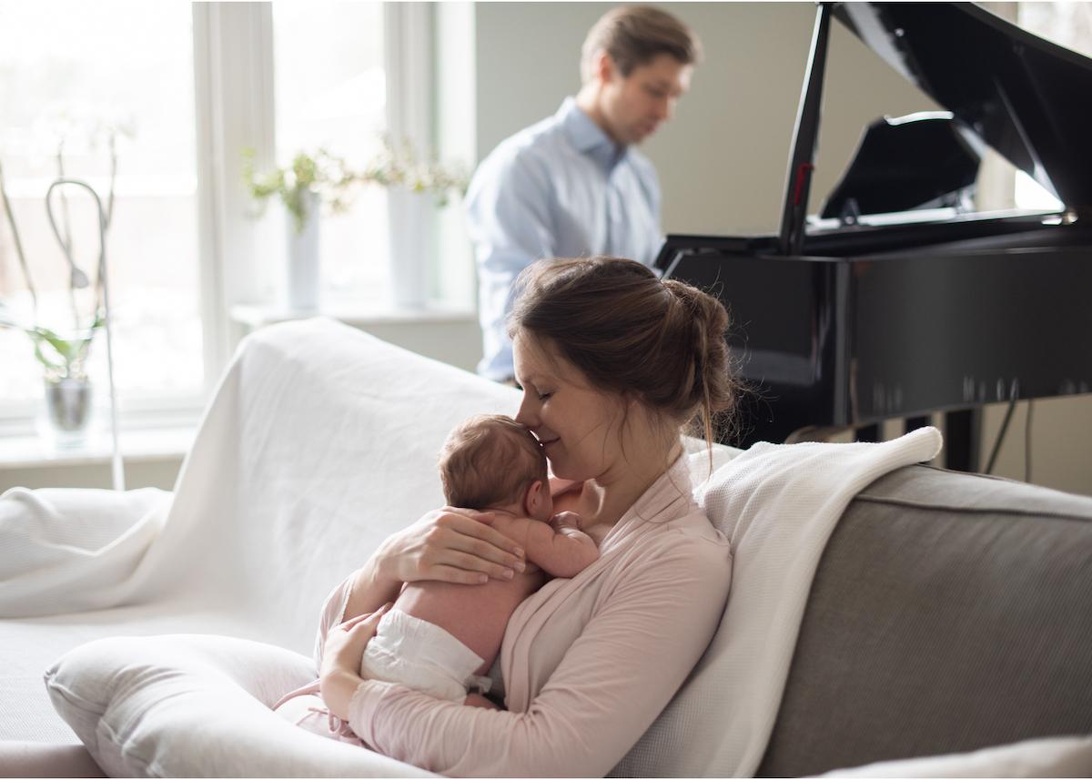 Nyföddfotografering i hemmet